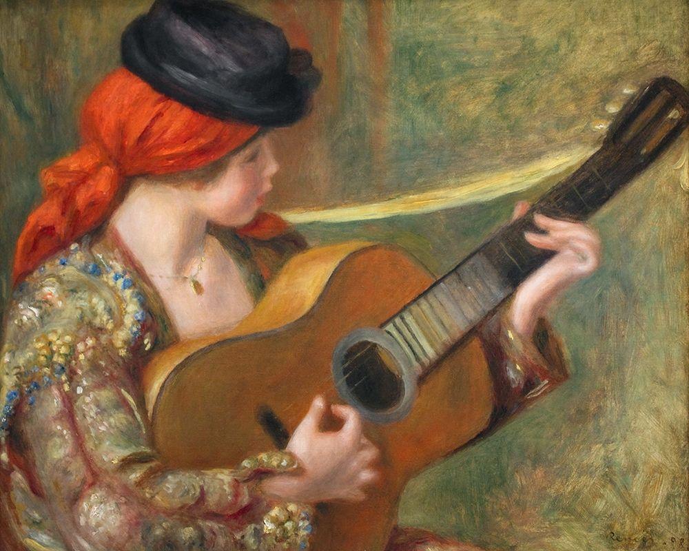 konfigurieren des Kunstdrucks in Wunschgröße Young Spanish Woman with a Guitar von Renoir, Pierre-Auguste