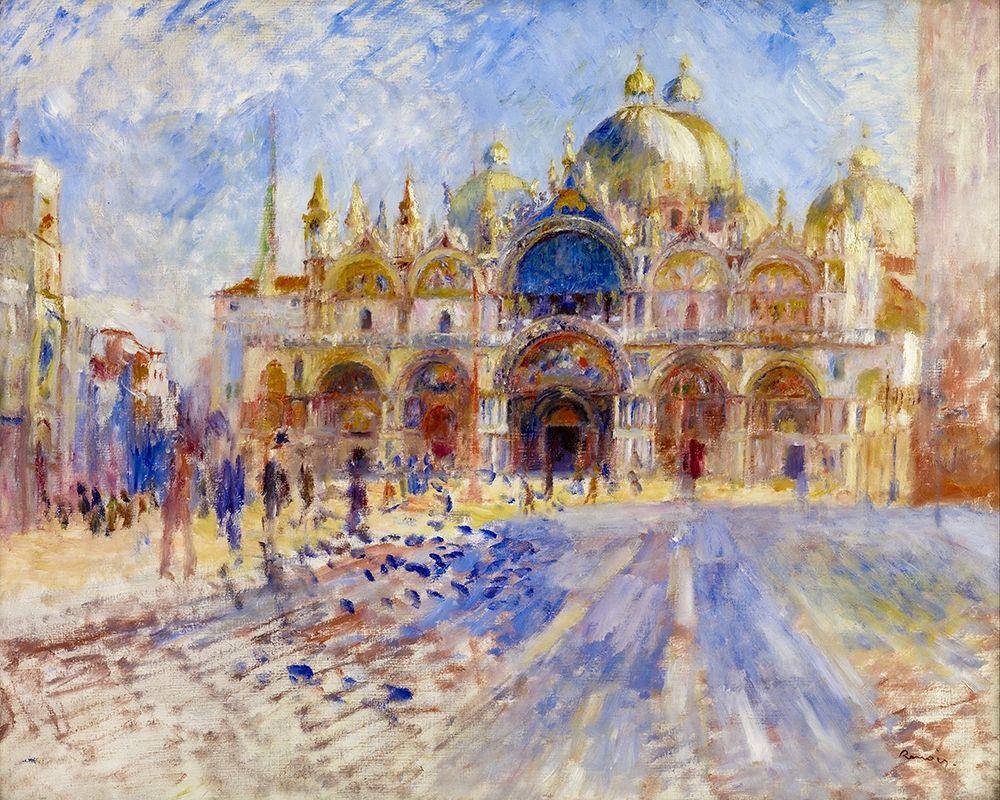 konfigurieren des Kunstdrucks in Wunschgröße The Piazza San Marco, Venice von Renoir, Pierre-Auguste