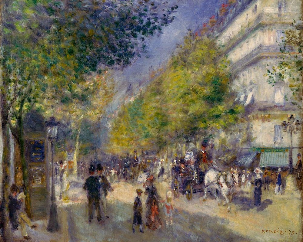 konfigurieren des Kunstdrucks in Wunschgröße The Grands Boulevards von Renoir, Pierre-Auguste