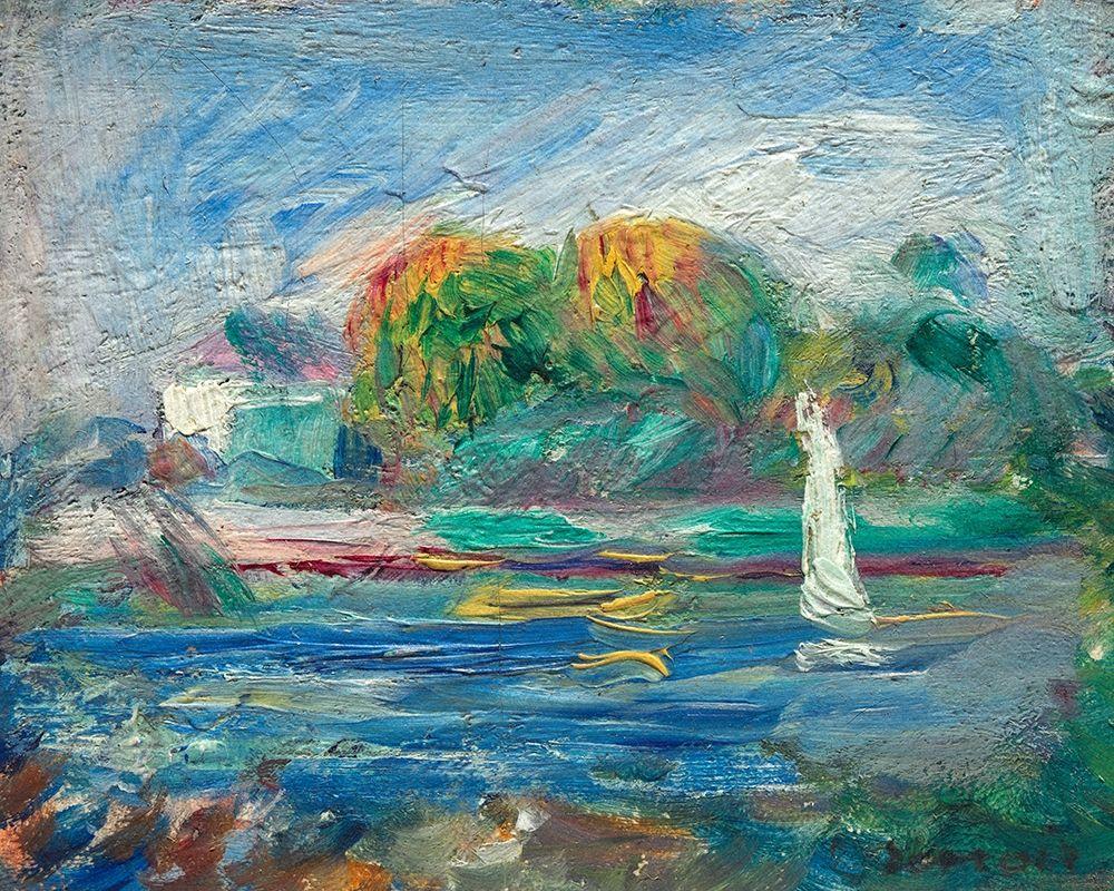 konfigurieren des Kunstdrucks in Wunschgröße The Blue River von Renoir, Pierre-Auguste