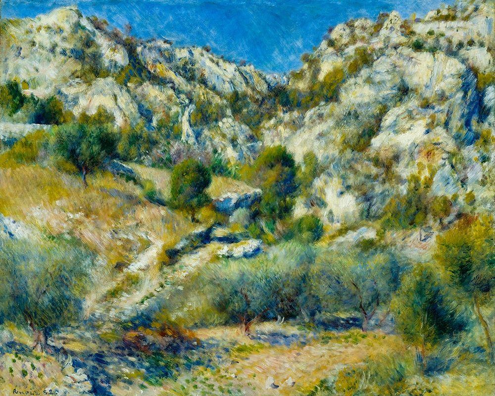 konfigurieren des Kunstdrucks in Wunschgröße Rocky Crags at LEstaque von Renoir, Pierre-Auguste
