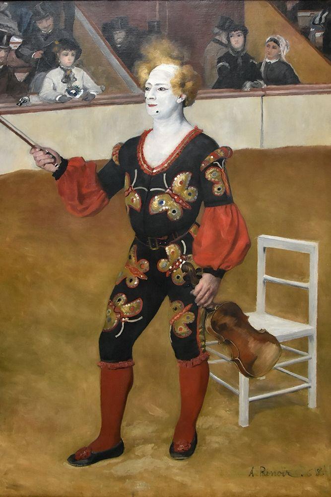 konfigurieren des Kunstdrucks in Wunschgröße The clown von Renoir, Pierre-Auguste