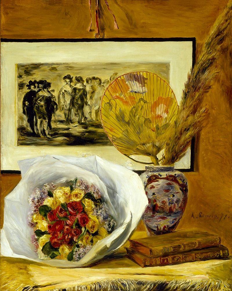 konfigurieren des Kunstdrucks in Wunschgröße Still Life with Bouquet von Renoir, Pierre-Auguste