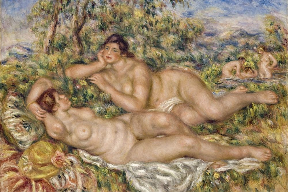 konfigurieren des Kunstdrucks in Wunschgröße The Bathers von Renoir, Pierre-Auguste