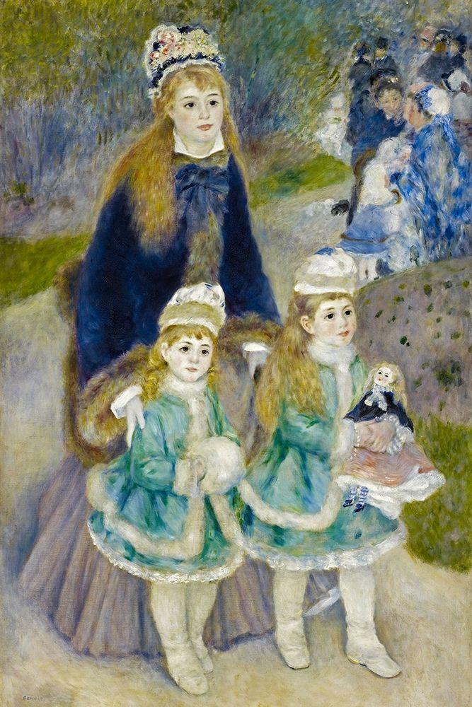 konfigurieren des Kunstdrucks in Wunschgröße Mother and Children (La Promenade) von Renoir, Pierre-Auguste