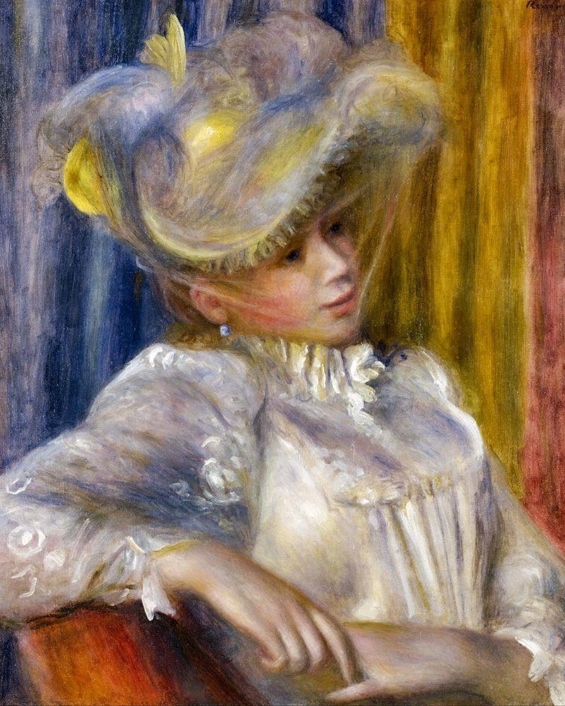 konfigurieren des Kunstdrucks in Wunschgröße Woman with a Hat von Renoir, Pierre-Auguste