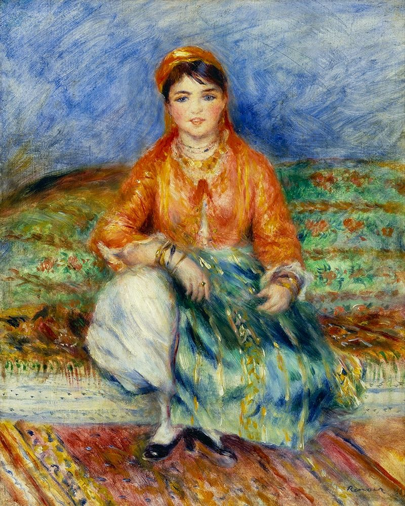 konfigurieren des Kunstdrucks in Wunschgröße Algerian Girl von Renoir, Pierre-Auguste