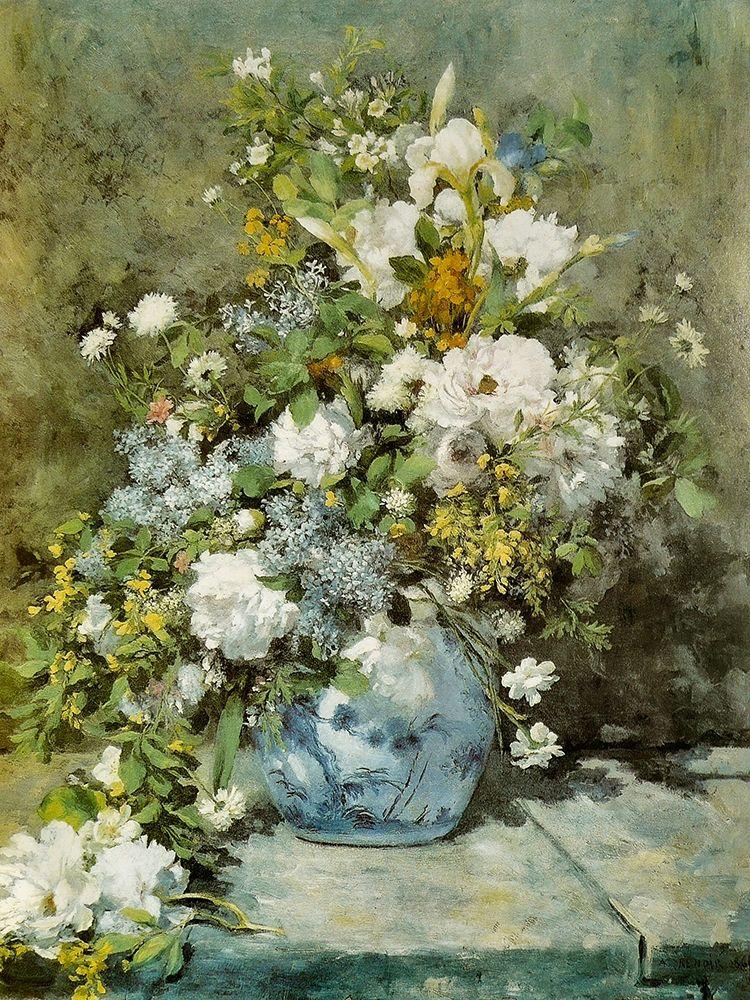 konfigurieren des Kunstdrucks in Wunschgröße Spring Bouquet von Renoir, Pierre-Auguste