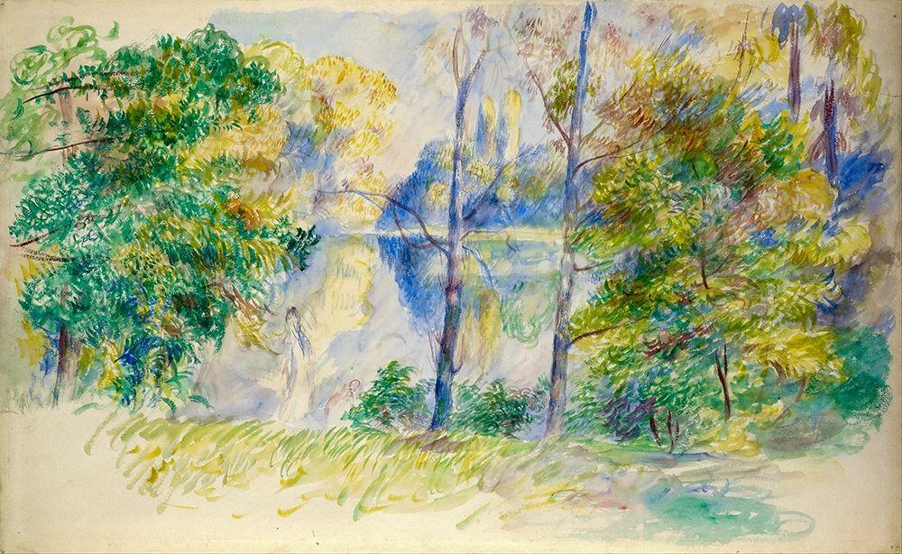 konfigurieren des Kunstdrucks in Wunschgröße View of a Park von Renoir, Pierre-Auguste
