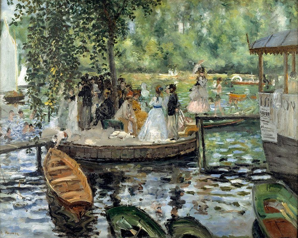 konfigurieren des Kunstdrucks in Wunschgröße La Grenouillere von Renoir, Pierre-Auguste