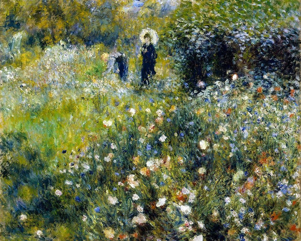 konfigurieren des Kunstdrucks in Wunschgröße Woman with a Parasol in a Garden von Renoir, Pierre-Auguste
