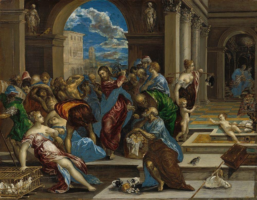 konfigurieren des Kunstdrucks in Wunschgröße Christ cleansing the Temple von El Greco