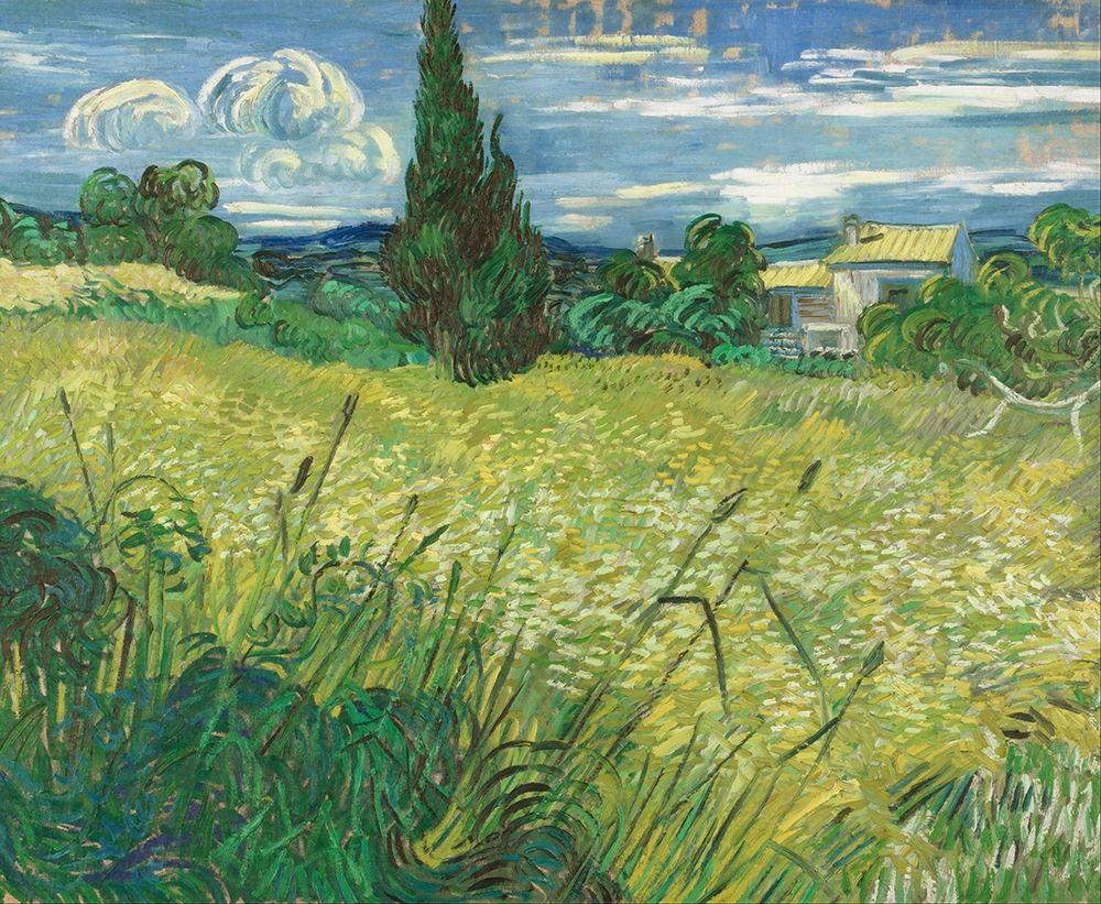 konfigurieren des Kunstdrucks in Wunschgröße Green Field von Van Gogh, Vincent