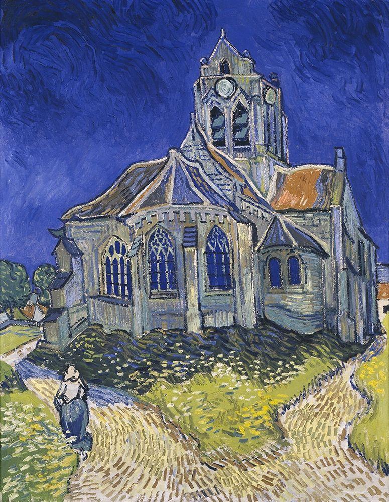 konfigurieren des Kunstdrucks in Wunschgröße The church in Auvers-sur-Oise, view from the Chevet von Van Gogh, Vincent