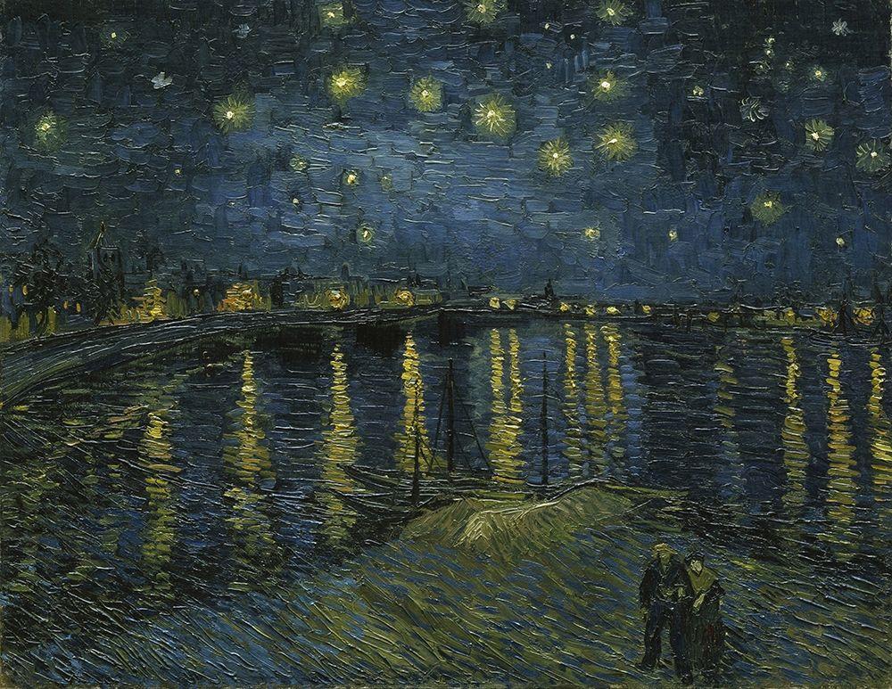 konfigurieren des Kunstdrucks in Wunschgröße Starry Night von Van Gogh, Vincent