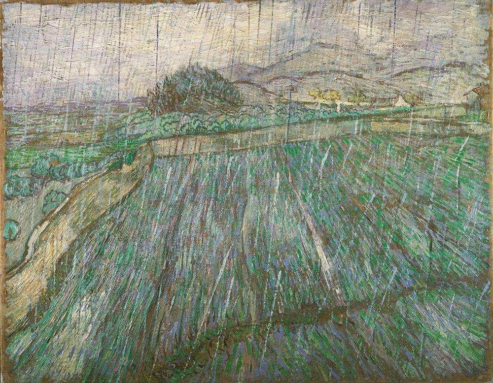 konfigurieren des Kunstdrucks in Wunschgröße Rain von Van Gogh, Vincent