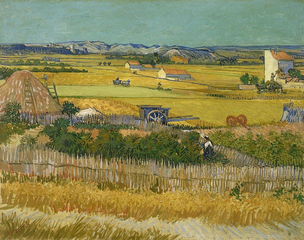 konfigurieren des Kunstdrucks in Wunschgröße The harvest von Van Gogh, Vincent