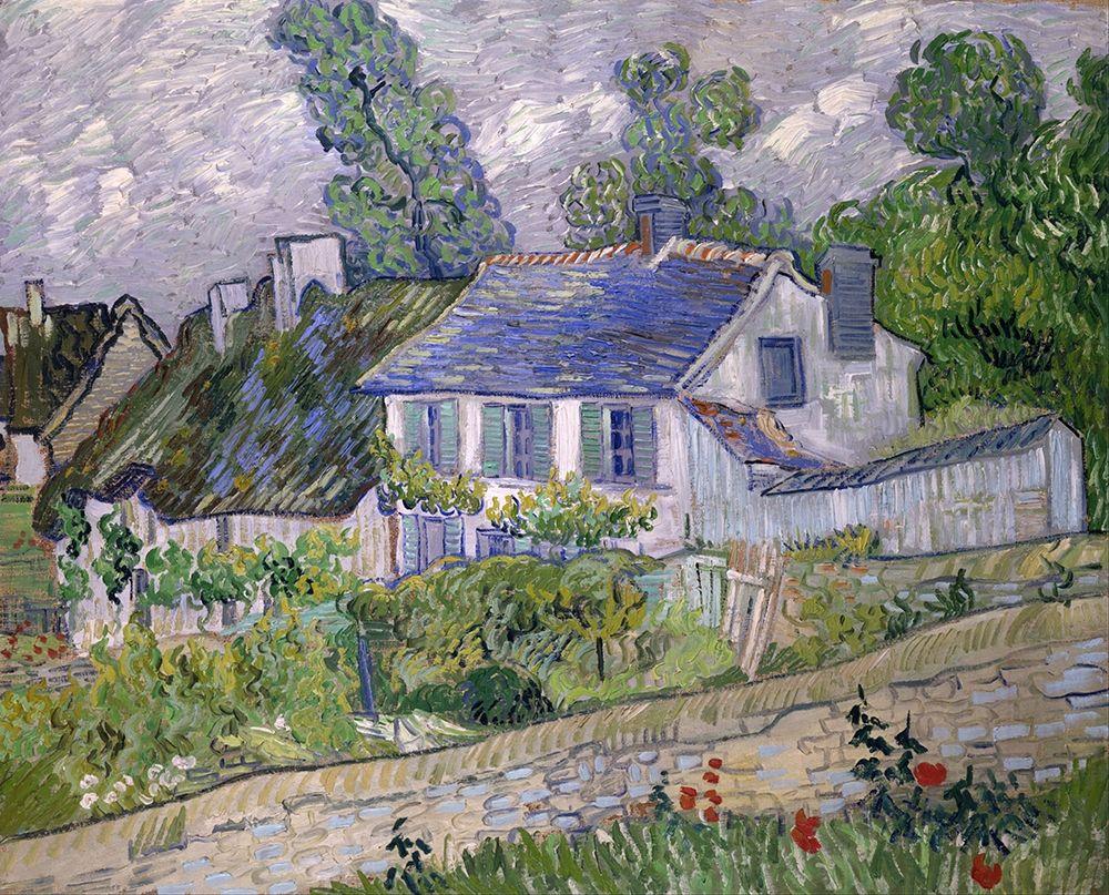 konfigurieren des Kunstdrucks in Wunschgröße Houses at Auvers von Van Gogh, Vincent