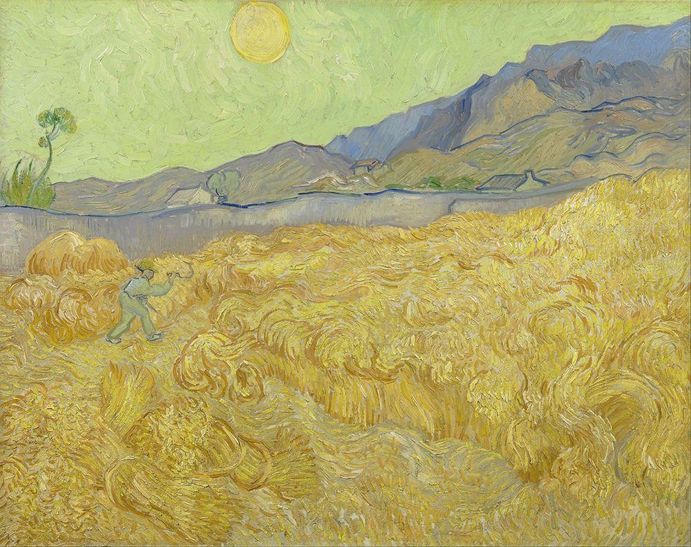 konfigurieren des Kunstdrucks in Wunschgröße Wheatfield with a reaper von Van Gogh, Vincent