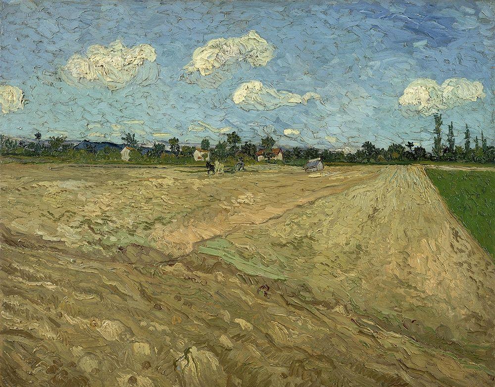 konfigurieren des Kunstdrucks in Wunschgröße Ploughed fields von Van Gogh, Vincent