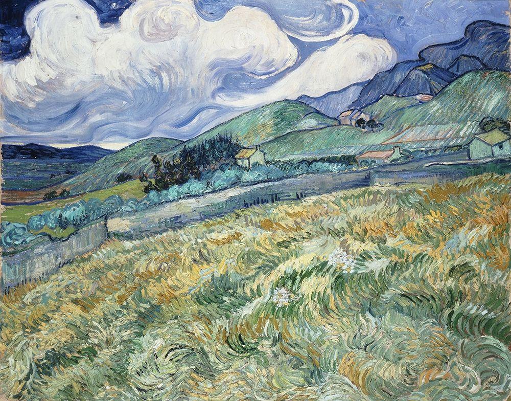 konfigurieren des Kunstdrucks in Wunschgröße Landscape from Saint-Remy von Van Gogh, Vincent