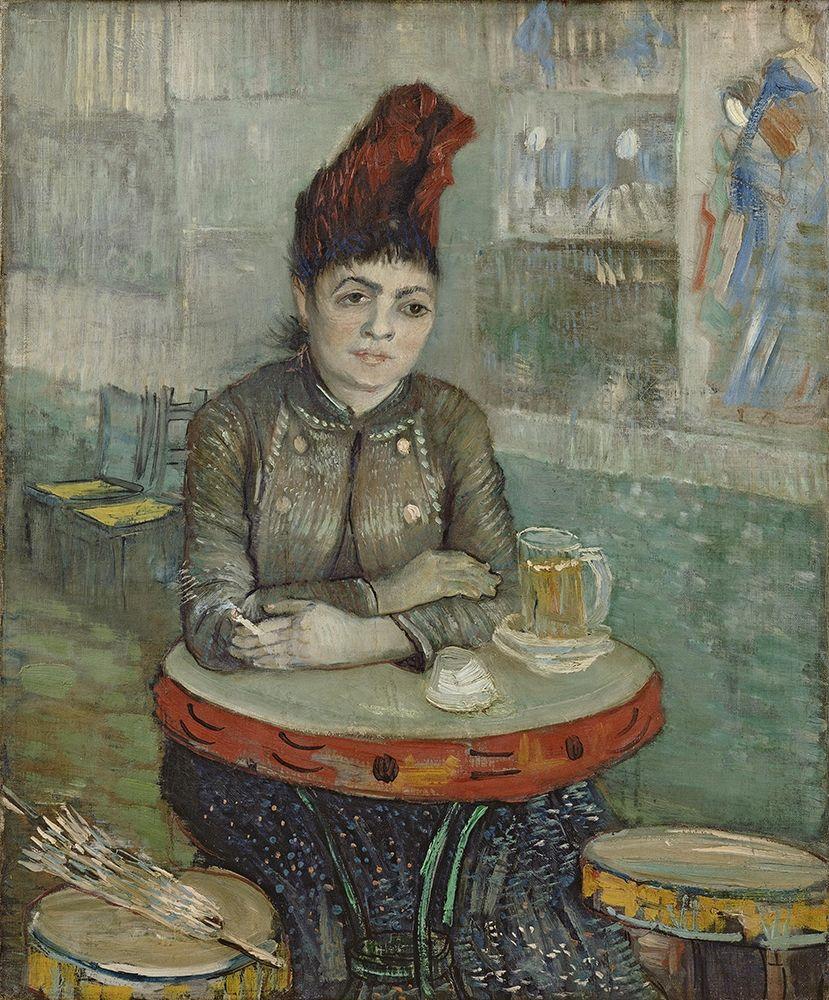 konfigurieren des Kunstdrucks in Wunschgröße In the cafe, Agostina Segatori in Le tambourin von Van Gogh, Vincent