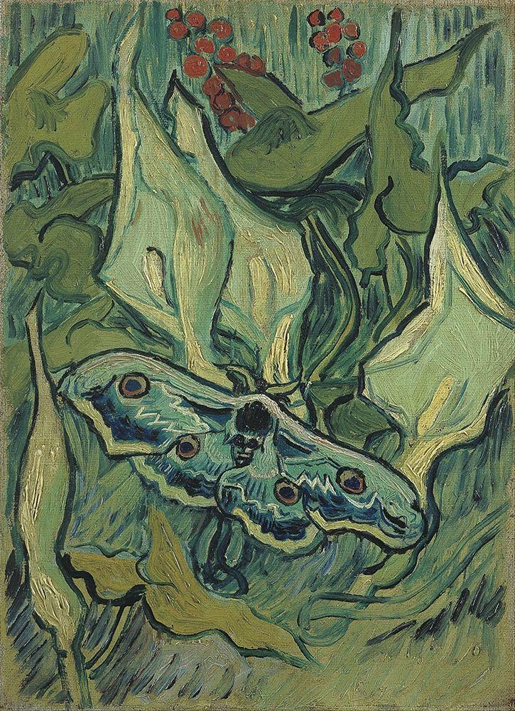konfigurieren des Kunstdrucks in Wunschgröße Emperor moth von Van Gogh, Vincent