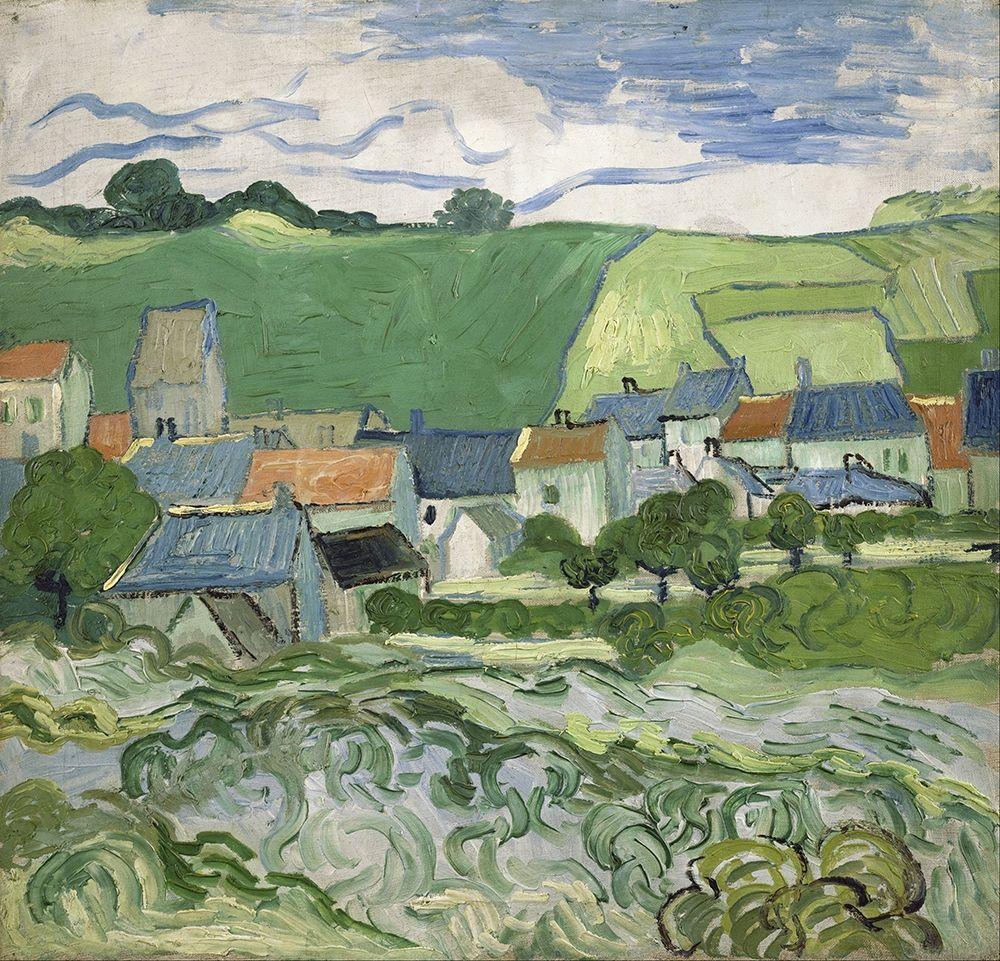 konfigurieren des Kunstdrucks in Wunschgröße View of Auvers von Van Gogh, Vincent