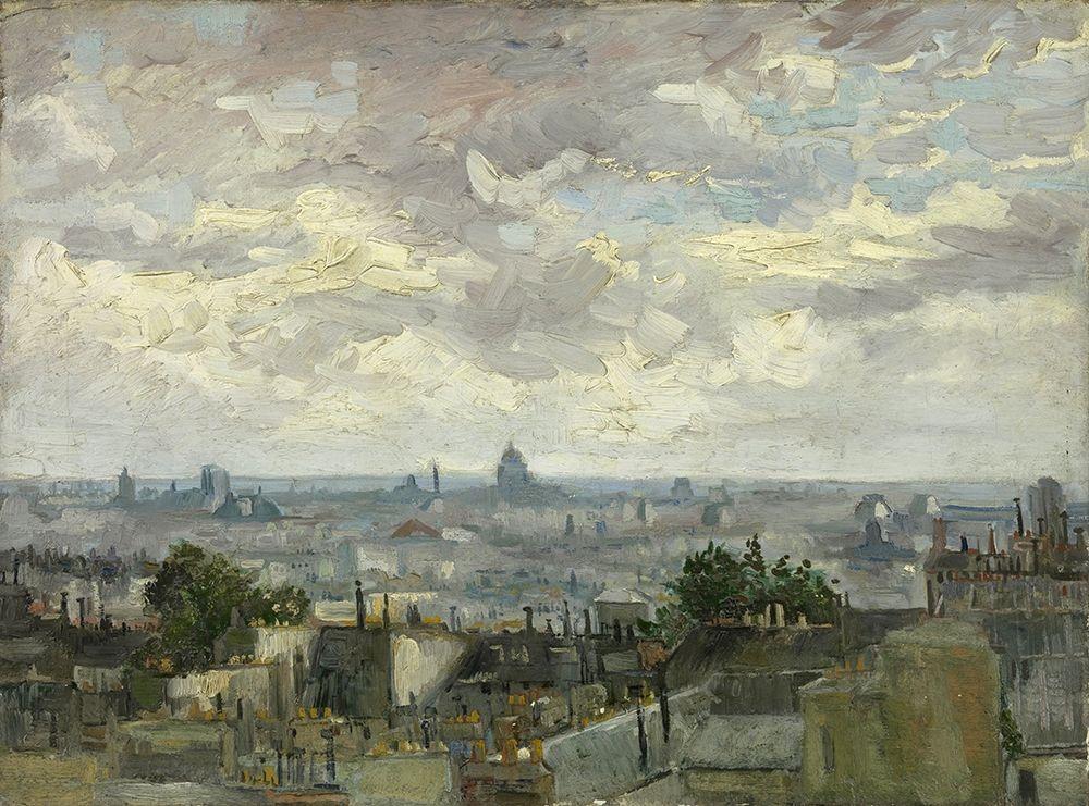 konfigurieren des Kunstdrucks in Wunschgröße View of Paris von Van Gogh, Vincent