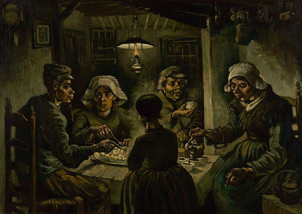 konfigurieren des Kunstdrucks in Wunschgröße The potato eaters von Van Gogh, Vincent