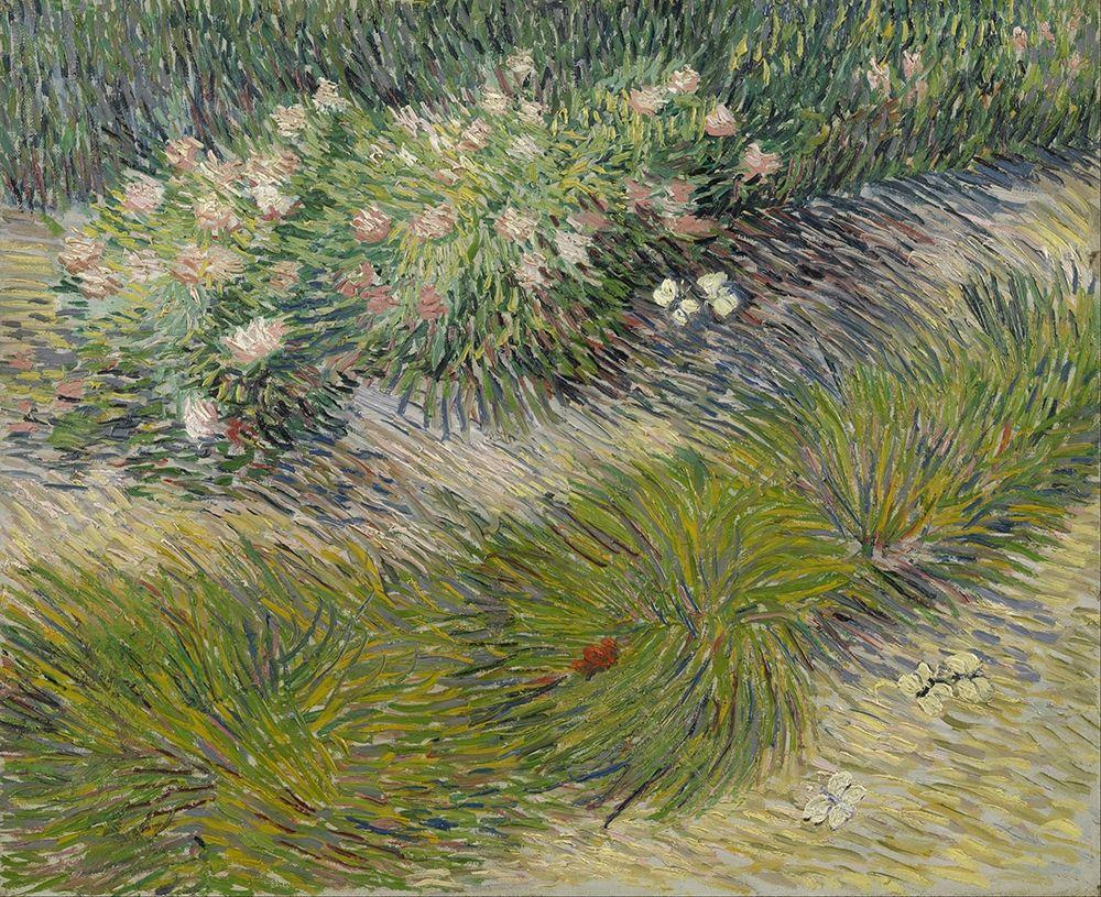 konfigurieren des Kunstdrucks in Wunschgröße Grass and Butterflies von Van Gogh, Vincent