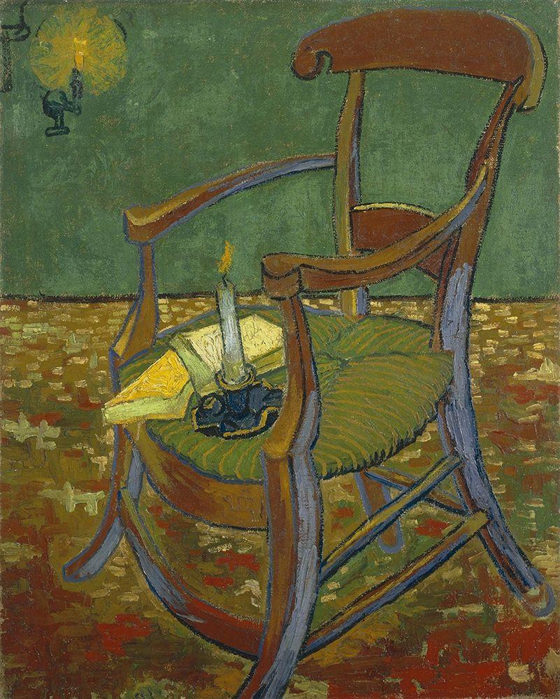 konfigurieren des Kunstdrucks in Wunschgröße Gauguins chair von Van Gogh, Vincent
