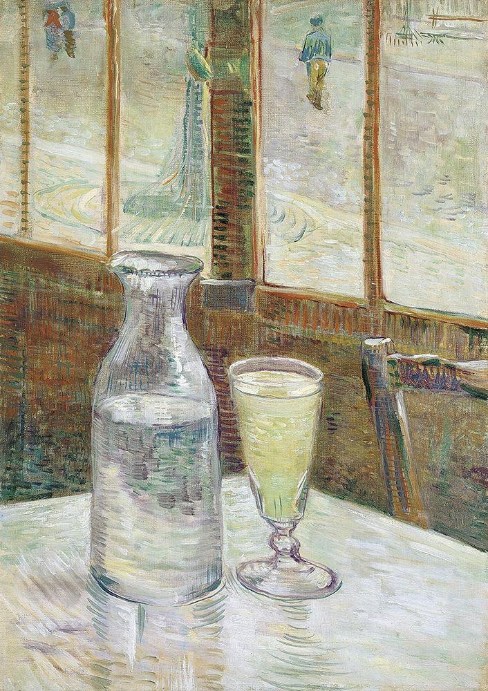 konfigurieren des Kunstdrucks in Wunschgröße Cafe table with absinth von Van Gogh, Vincent