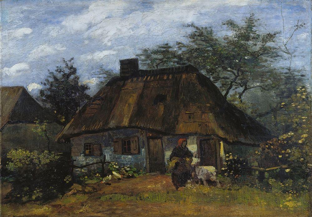 konfigurieren des Kunstdrucks in Wunschgröße Farmhouse in Nuenen von Van Gogh, Vincent