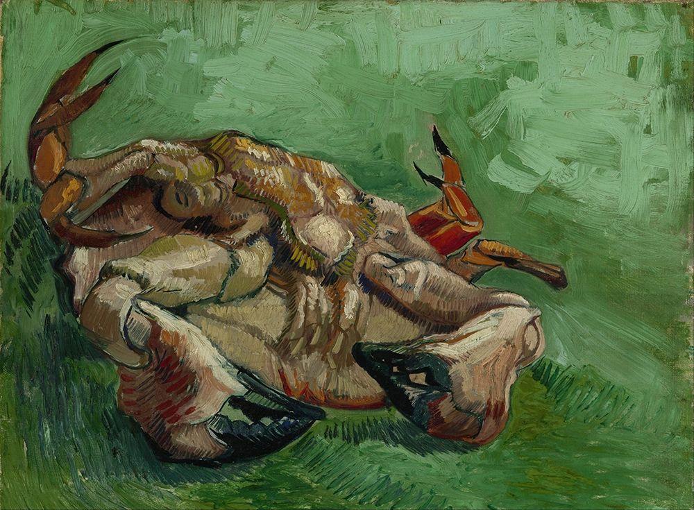 konfigurieren des Kunstdrucks in Wunschgröße A crab on its back von Van Gogh, Vincent