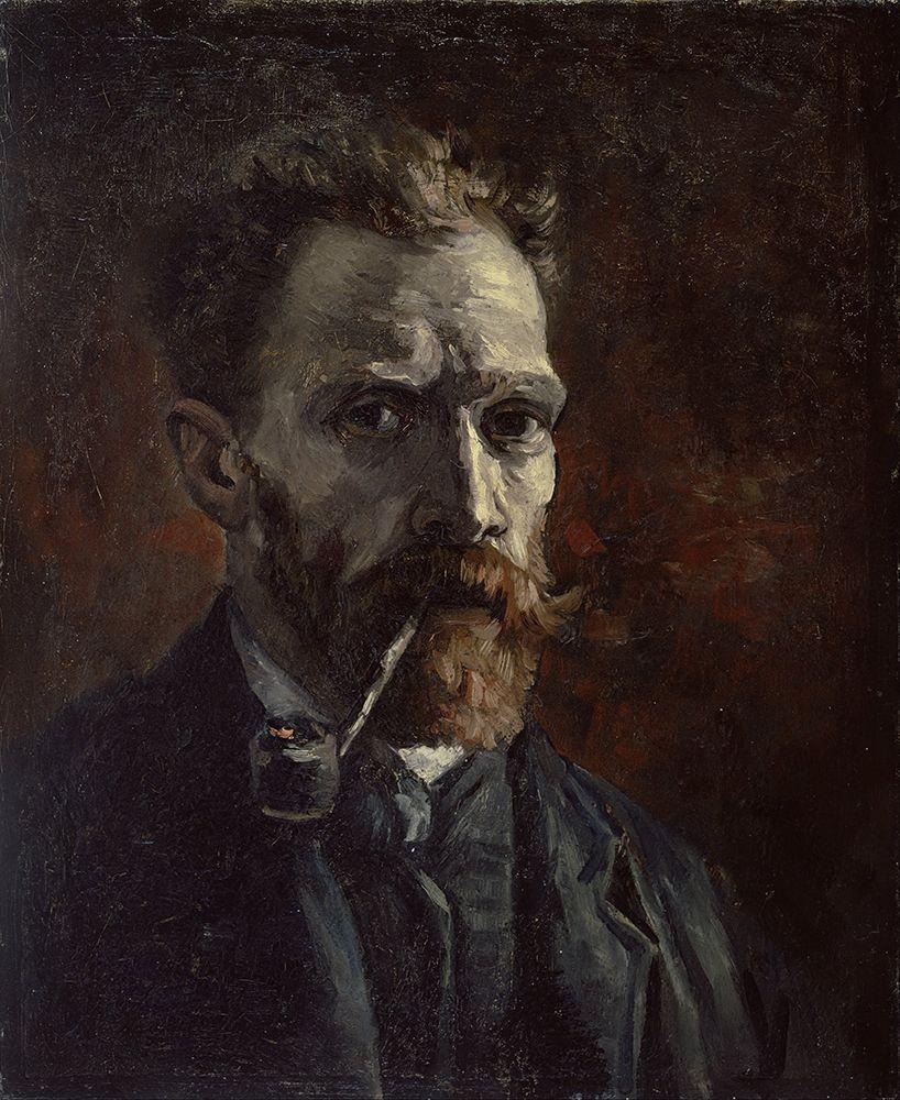 konfigurieren des Kunstdrucks in Wunschgröße Self-portrait with pipe von Van Gogh, Vincent
