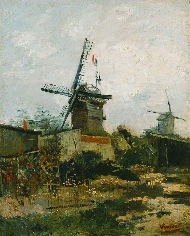 konfigurieren des Kunstdrucks in Wunschgröße Windmills on Montmartre von Van Gogh, Vincent