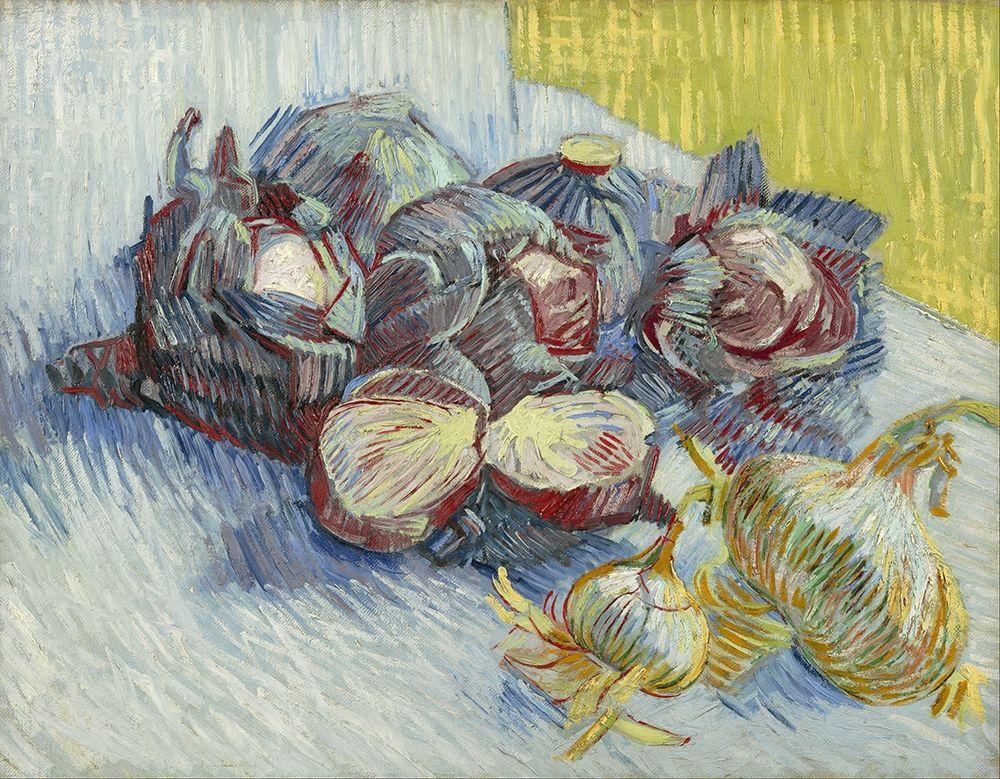 konfigurieren des Kunstdrucks in Wunschgröße Red cabbages and onions von Van Gogh, Vincent