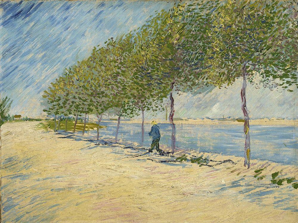 konfigurieren des Kunstdrucks in Wunschgröße Along the Seine von Van Gogh, Vincent