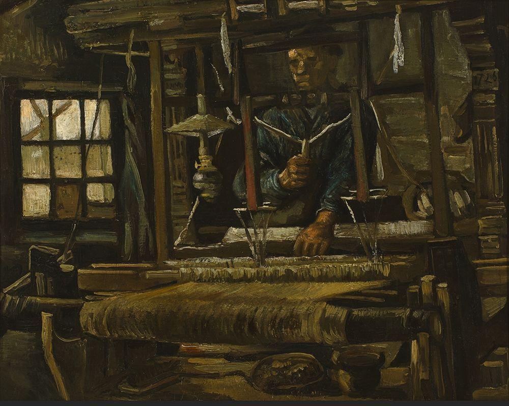 konfigurieren des Kunstdrucks in Wunschgröße A Weavers Cottage von Van Gogh, Vincent