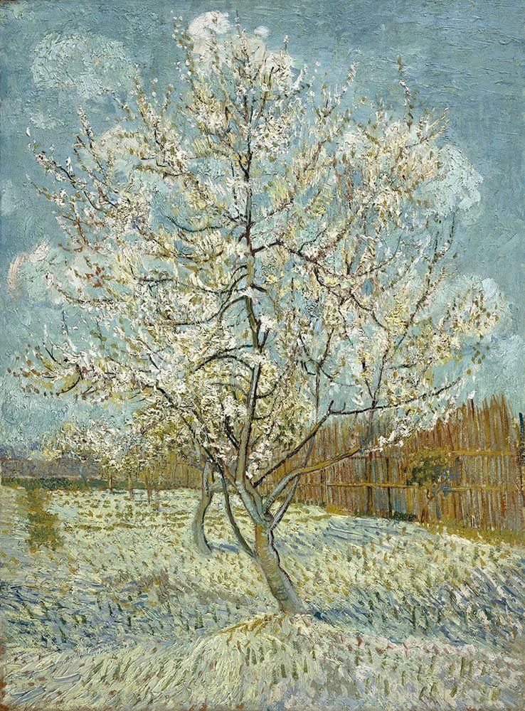 konfigurieren des Kunstdrucks in Wunschgröße The pink peach tree von Van Gogh, Vincent