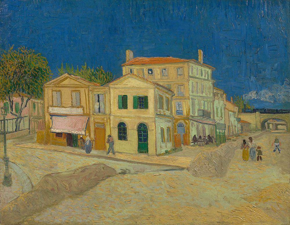 konfigurieren des Kunstdrucks in Wunschgröße The yellow house von Van Gogh, Vincent