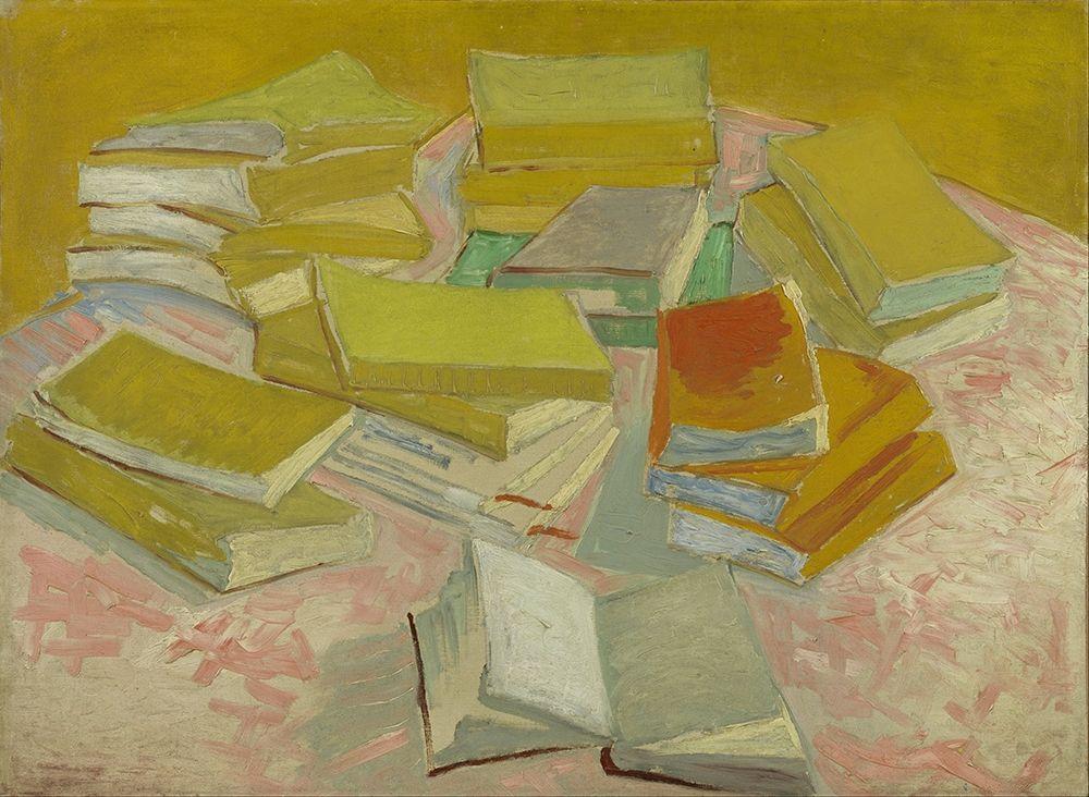 konfigurieren des Kunstdrucks in Wunschgröße Piles of French novels von Van Gogh, Vincent