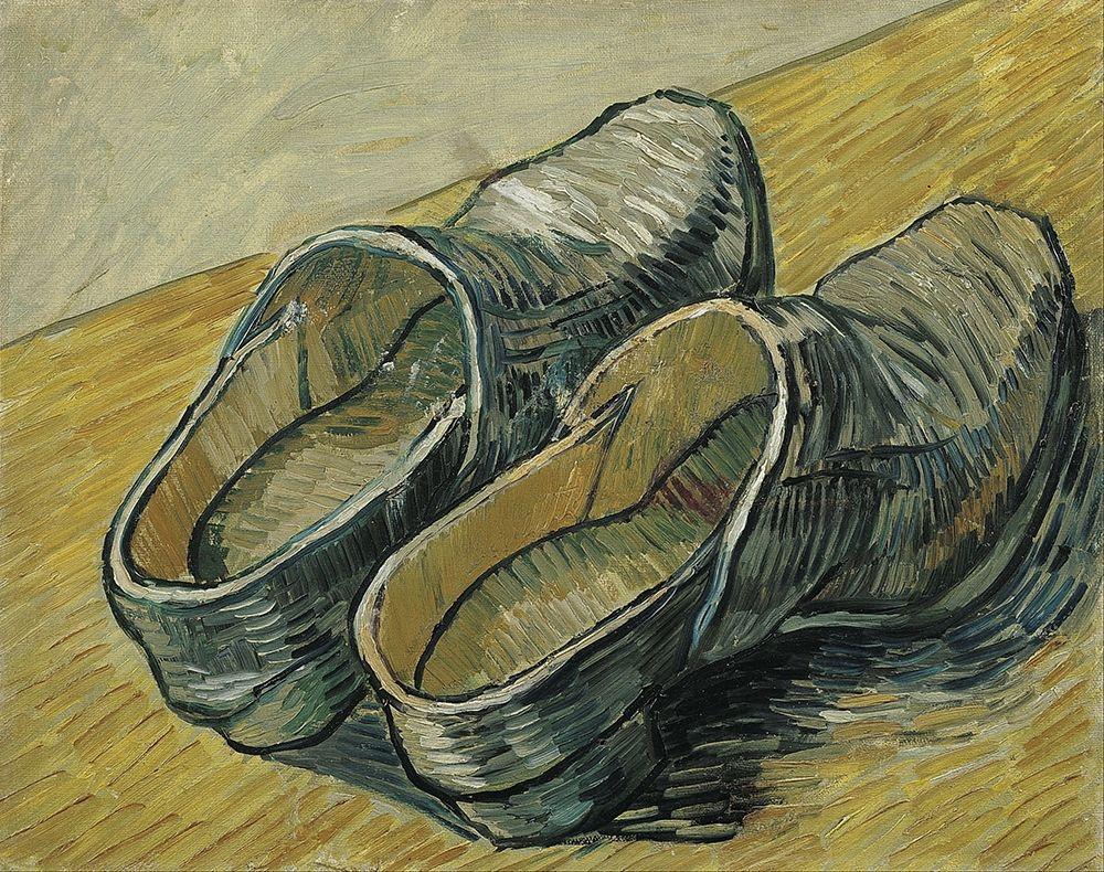 konfigurieren des Kunstdrucks in Wunschgröße A pair of leather clogs von Van Gogh, Vincent