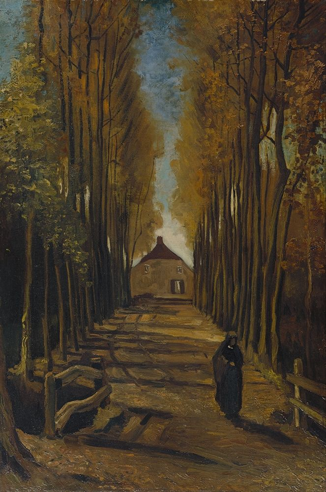 konfigurieren des Kunstdrucks in Wunschgröße Avenue of poplars in autumn von Van Gogh, Vincent