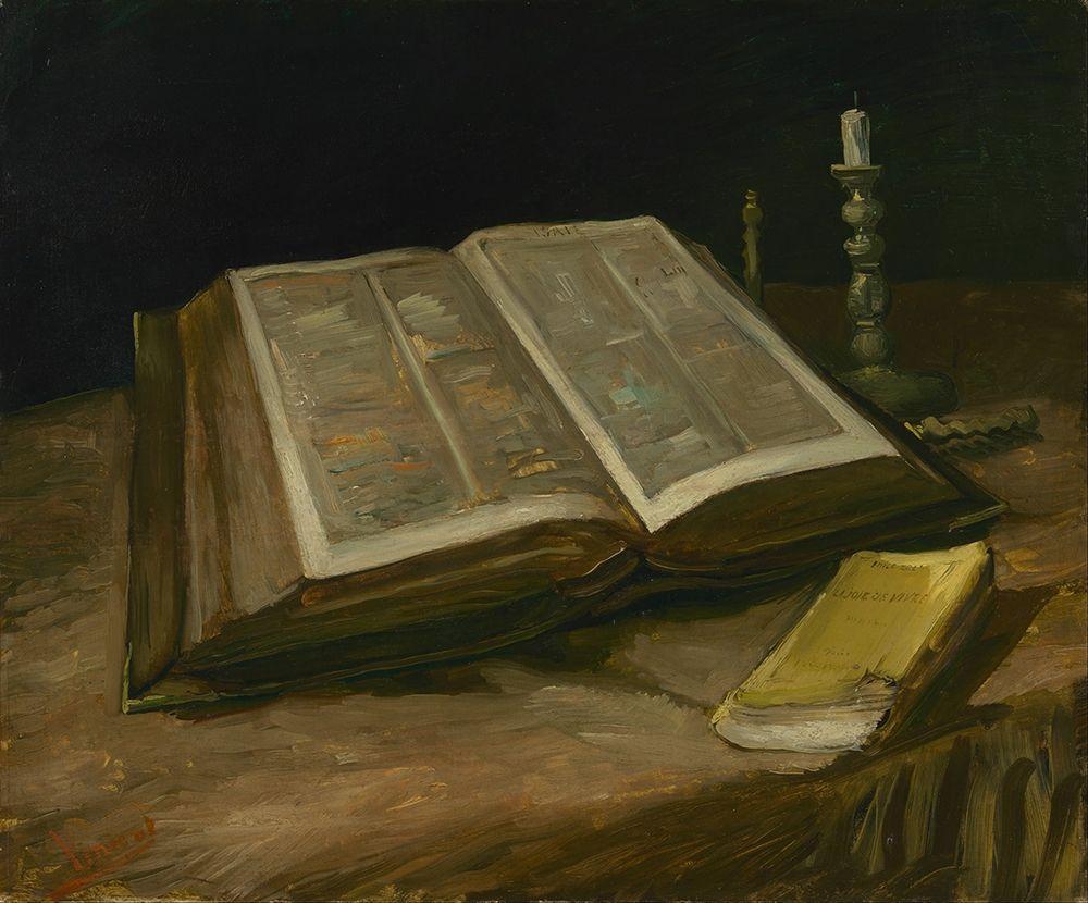 konfigurieren des Kunstdrucks in Wunschgröße Still life with Bible von Van Gogh, Vincent