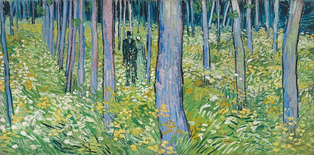 konfigurieren des Kunstdrucks in Wunschgröße Undergrowth with two Figures von Van Gogh, Vincent