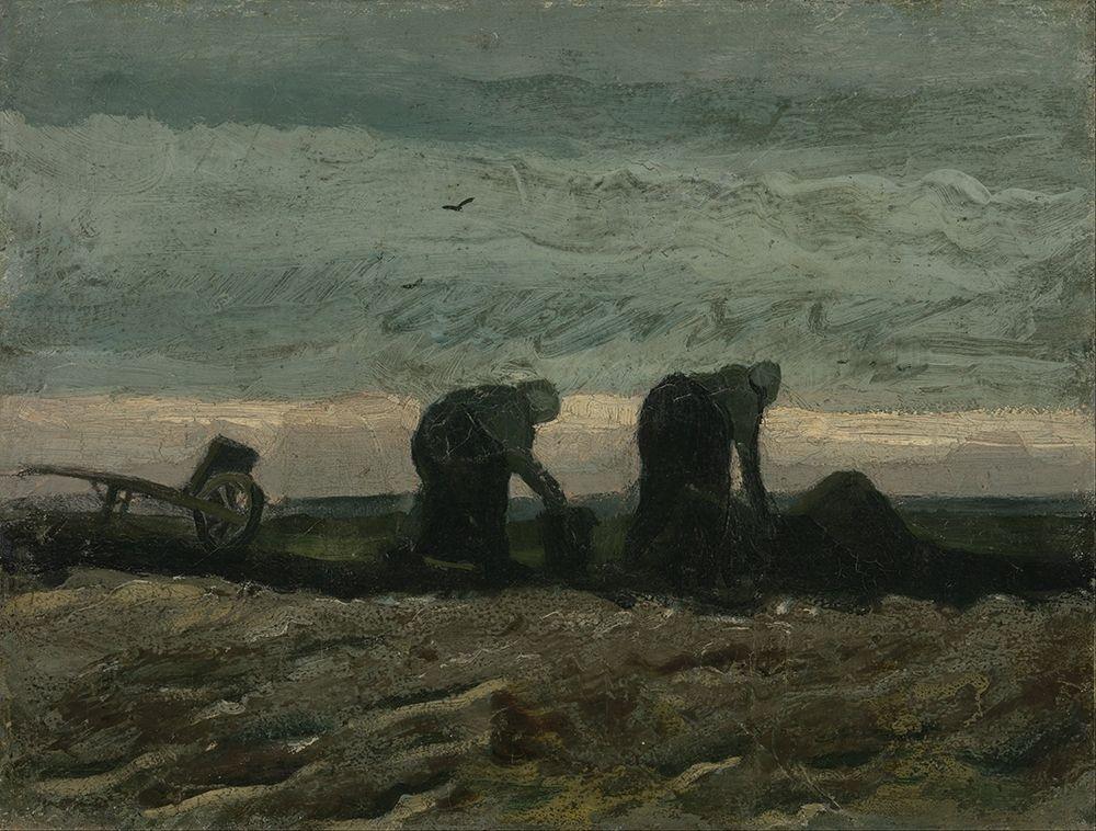 konfigurieren des Kunstdrucks in Wunschgröße Two women on the heath von Van Gogh, Vincent
