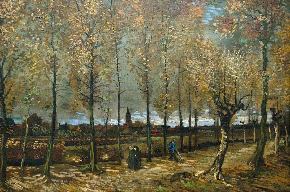 konfigurieren des Kunstdrucks in Wunschgröße Lane with Poplars near Nuenen von Van Gogh, Vincent