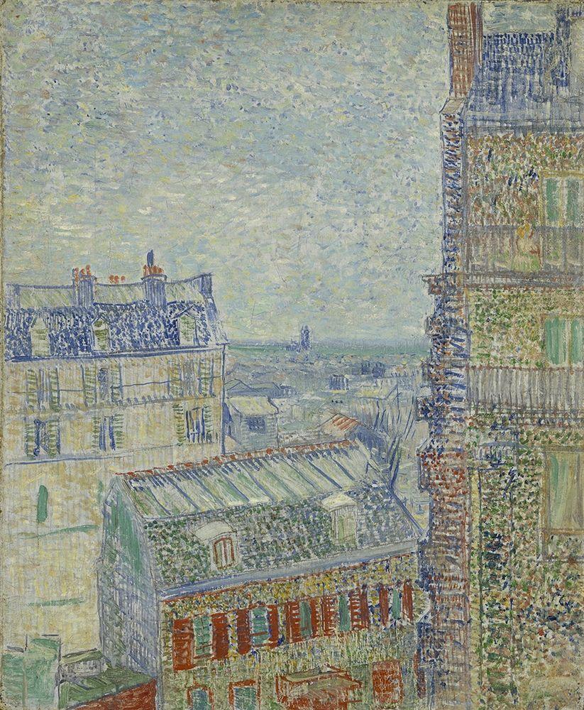 konfigurieren des Kunstdrucks in Wunschgröße View from Theo s apartment von Van Gogh, Vincent